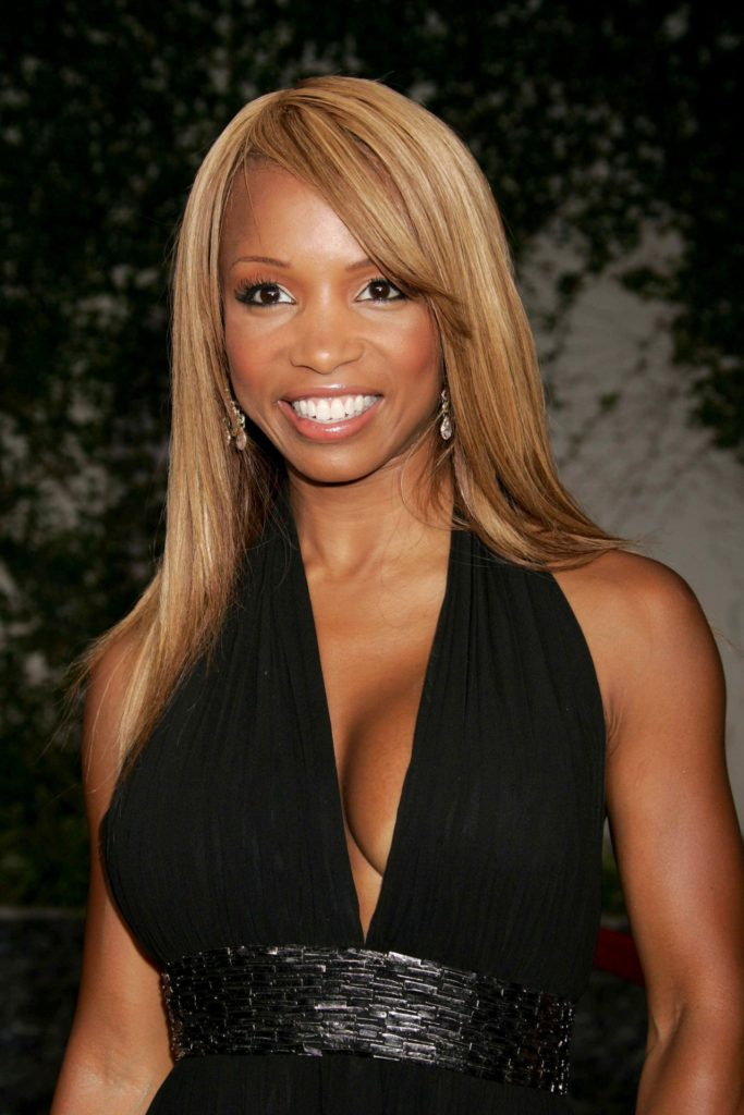 Elise Neal, ebony , women, black dress, beautiful, fitness