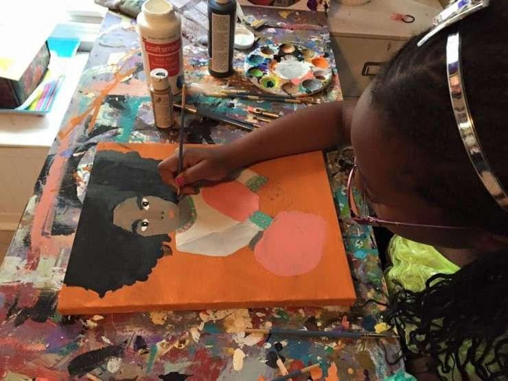 black teen, black artist, black painter, Camryn Green, black excellence