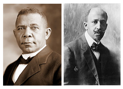 booker t washington, w.e.b du bois