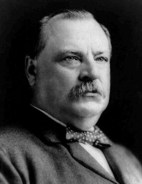 22nd & 24th Grover Cleveland  1885 – 1889 and 1893 – 1897- Democratic